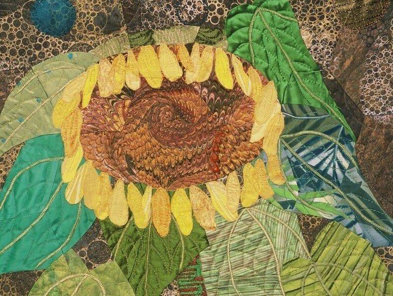 Sunflower Serenade, detail